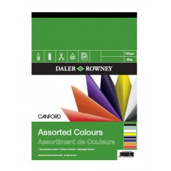 Daler Rowney Coloured Canford Card Pad - 32 Sheets 150gsm A4 A3