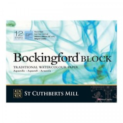 Bockingford Watercolour Block Pads - 12 Sheets 300gms NOT...